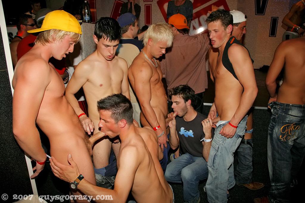 Nude gay guys go crazy club